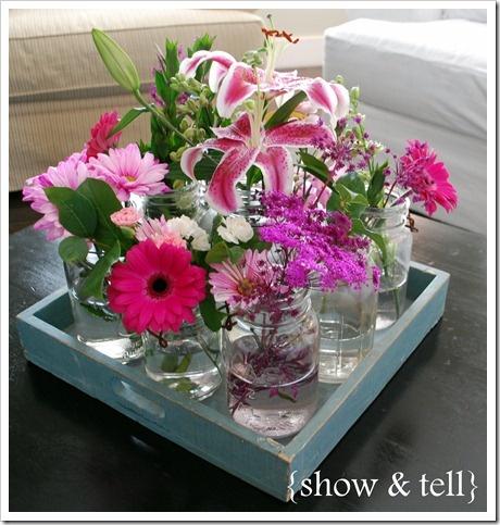 DIY flower arrangement--sunroom?