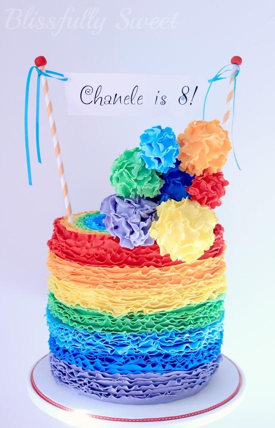 Rainbow birthday cake..wow