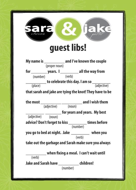 Fun idea for your reception!