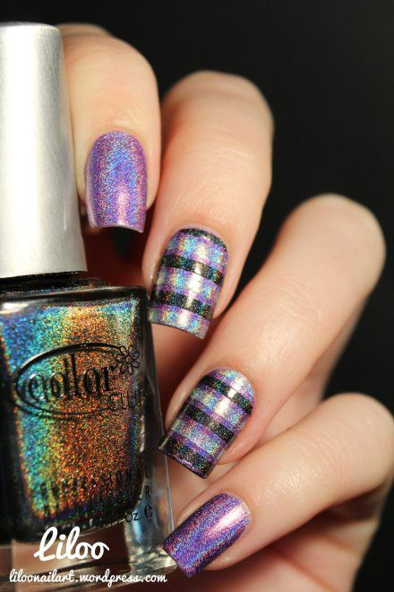 liloo nail art pretty plaid!
