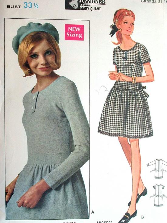 Butterick Dress Pattern No 4968 UNCUT Vintage by CaliforniaSunset