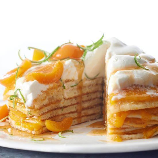 This easy-to-make Apricot Stack Cake is as simple as making pancakes! More recipes from the magazine: www.bhg.com/...