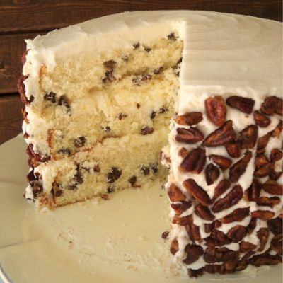 Toasted Butter Pecan Cake Recipe -- Substitute SugarTwin® in this recipe for same sweet taste without the calories - www.sugartwin.com #sugartwin #cake #pecan #dessert
