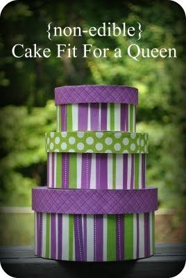 Non-Edible Cake-- DIY Gift and Gift Boxes Idea