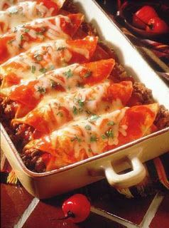 Beef Enchiladas - This enchilada recipe will have you at the dinner table in less than an hour