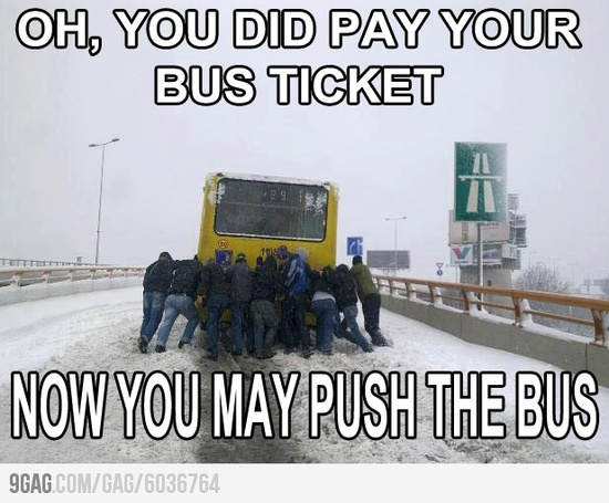 You did pay your bus ticket