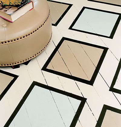 #flooring #decor #paint #pattern  Bold, geometric design on flooring