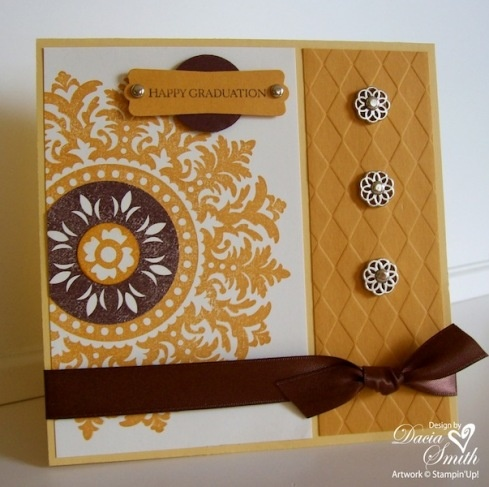 Another great idea for the gorgeous medallion stamp.