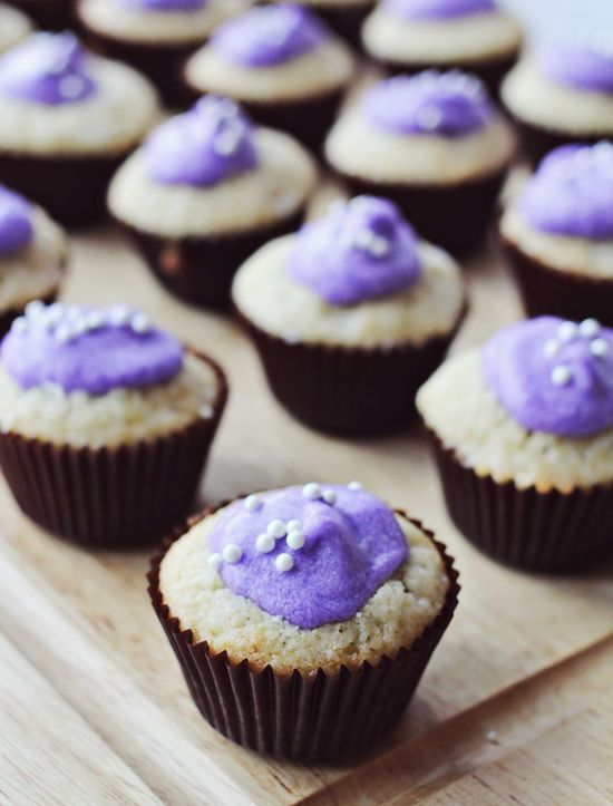 Perfect lavender cupcakes!