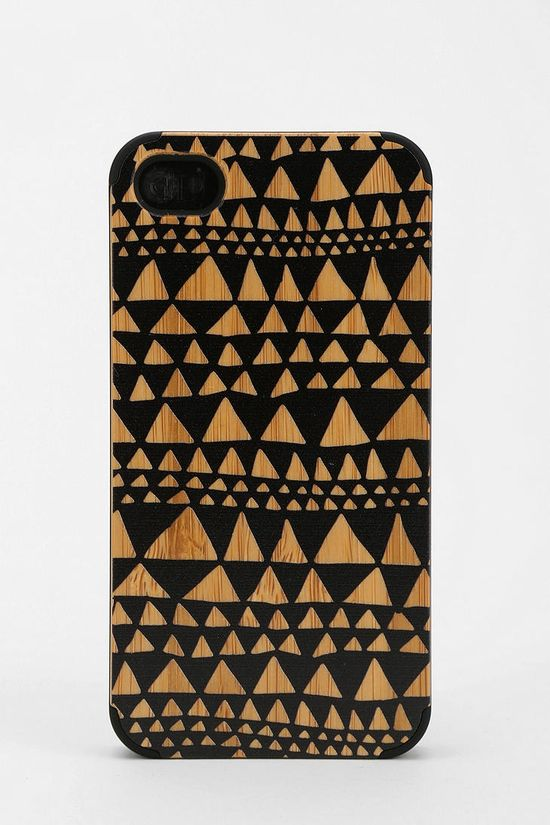 painted wood iphone case
