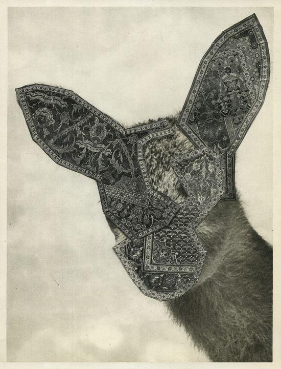 """Saatchi Online Artist: betty ras; Paper, 2010, Assemblage / Collage """"Deer"""""""
