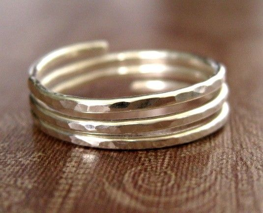 TRINITY closed band sterling silver wire wrap ring by muyinmolly