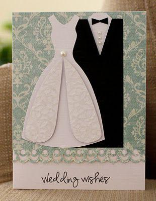 card using wedding dress template.