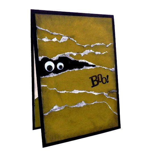 Zombie Halloween Card 'BOO' - Handmade Halloween Greeting Card