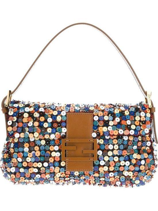 Fendi #handbag #purse #clutch sequin