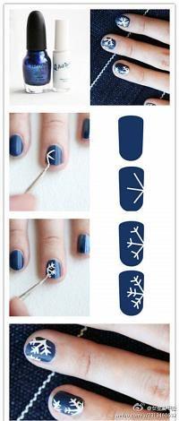 DIY Snowflakes Nail Design DIY Fashion Tips