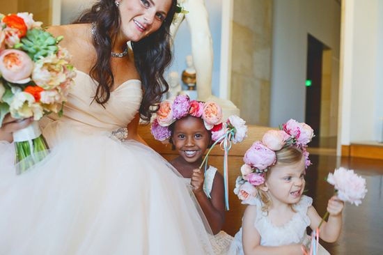 adorable flower girls, wedding photo by Christina Carroll Photography in Austin, Texas