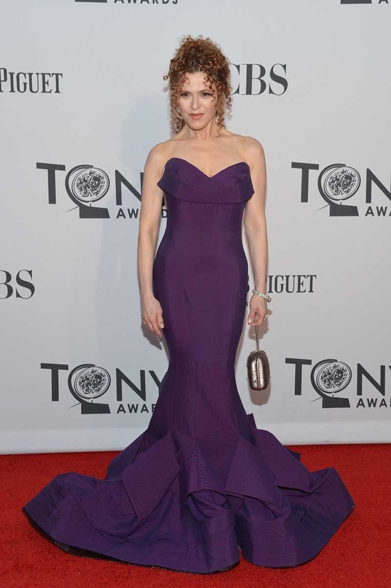 Bernadette Peters at the Tony Awards wearing a Donna Karan gown    Can you believe she is 64! I want to look as good as her when I reach that age!