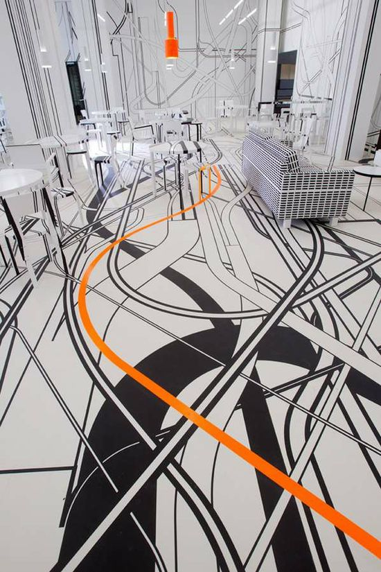 Awesome floor graphic! Berlin Penthouse - Lecarolimited