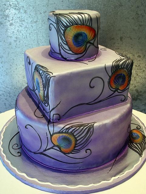 peacock cake..