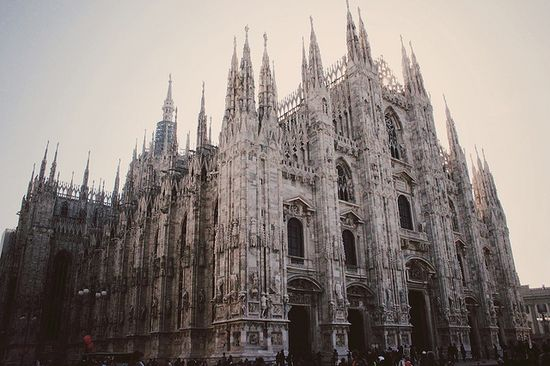 Milan, Italy, the ice castle