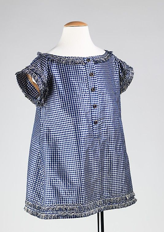 1855 -60. Lovely little boys dress. I love the trim and cut!