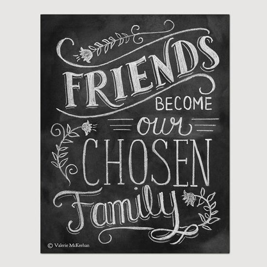 Friendship Print - Friendship Gift - Friend Quote - 8 x 10 Print - Hand Lettered Print - Gift for Best Friend - Chalkboard Art - Chalk Art