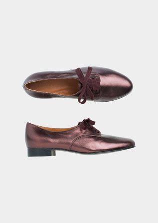 metallic bronze jazz shoe