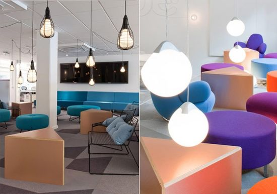 Skype's Office with Colorful Sparks Colorful Office Designs
