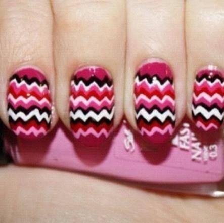Nailart: Missoni zigzagging nails
