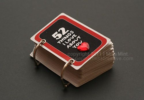 '52 Things I Love About You' Deck of Cards Album