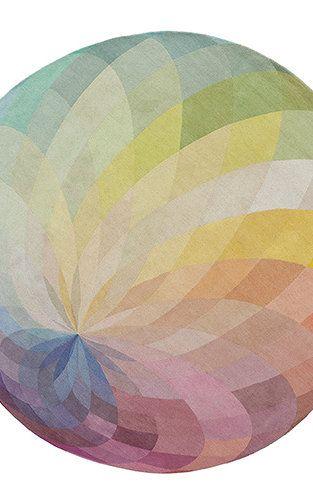 Handmade Rugs That Look Like Color Wheels