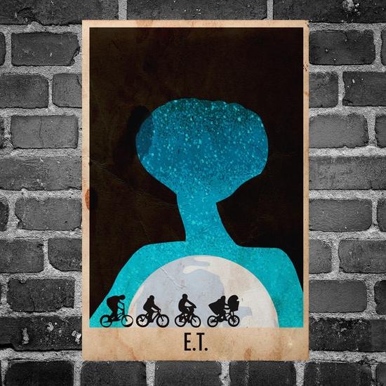 ET retro poster minimalist art movie print ET art by Harshness