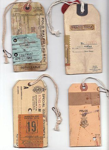 Old tags. #vintage,  #paper,
