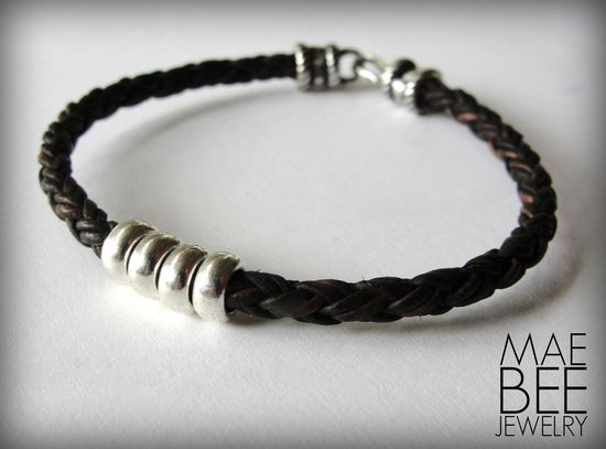 Just listed! Silver on braided leather #bracelet from JewelryByMaeBee on #Etsy. #sfetsy www.jewelrybymaeb...