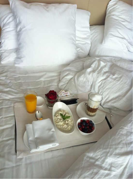 'morning - breakfast in bed