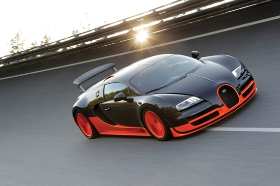 Bugatti Veyron Super Sport fastest street legal car in the world.