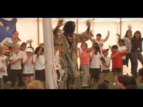 cute kids learning african dance