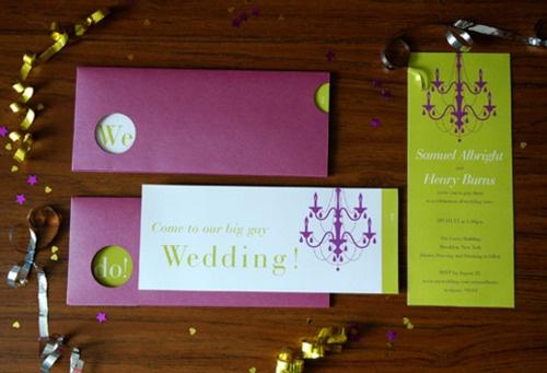 """Come to Our Big Gay Wedding"" by alfiecooper.com"