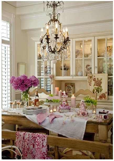 Romantic Dining Room Kitchen