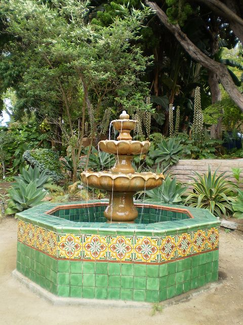 San Diego Mission Fountain.