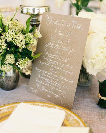 menu/table decor