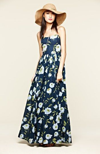 French Connection Spring Bloom Cotton Maxi Dress