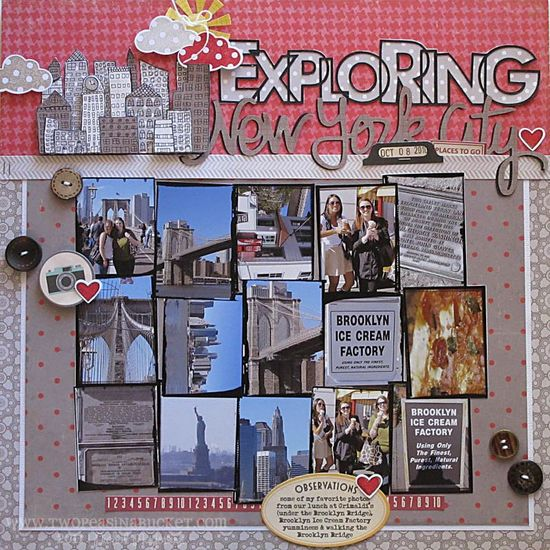 #papercraft #Scrapbook #layout #Travel   Love the layering of the stamped image - Nichol Magouirk
