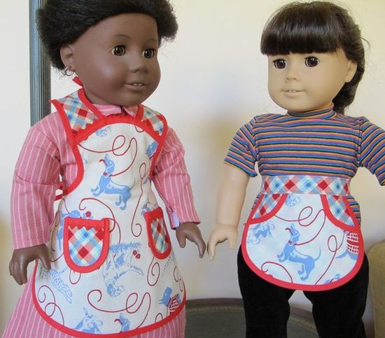 American Girl doll size aprons