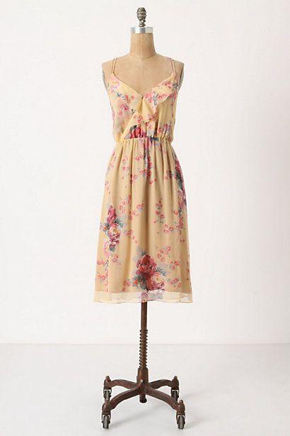 Rose & Gold Slip Dress #anthropologie