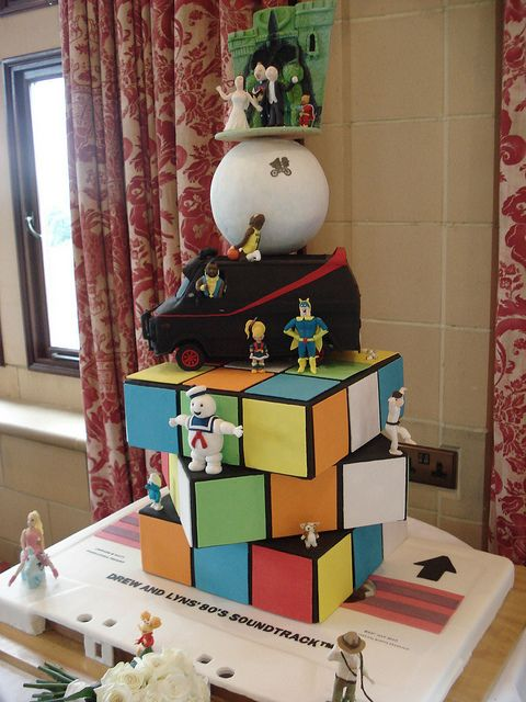 80s Themed Wedding Cake - Full View 1 by Alexandra Waite, via Flickr