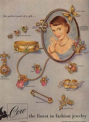 Dating Vintage Jewelry  The copyright symbol on a piece of jewelry indicates a date of 1956 or later. In 1956 it became much more cost effective to register a design Copyright which led designers to abandoned the expensive patent registration process.