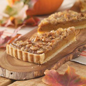 Bourbon Pumpkin Tart with Walnut Streusel Recipe