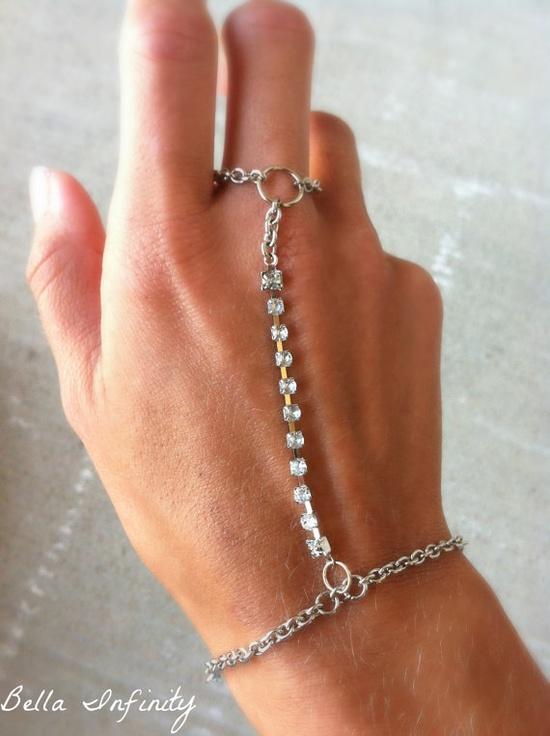 Bella Infinity Slave Bracelet Silver